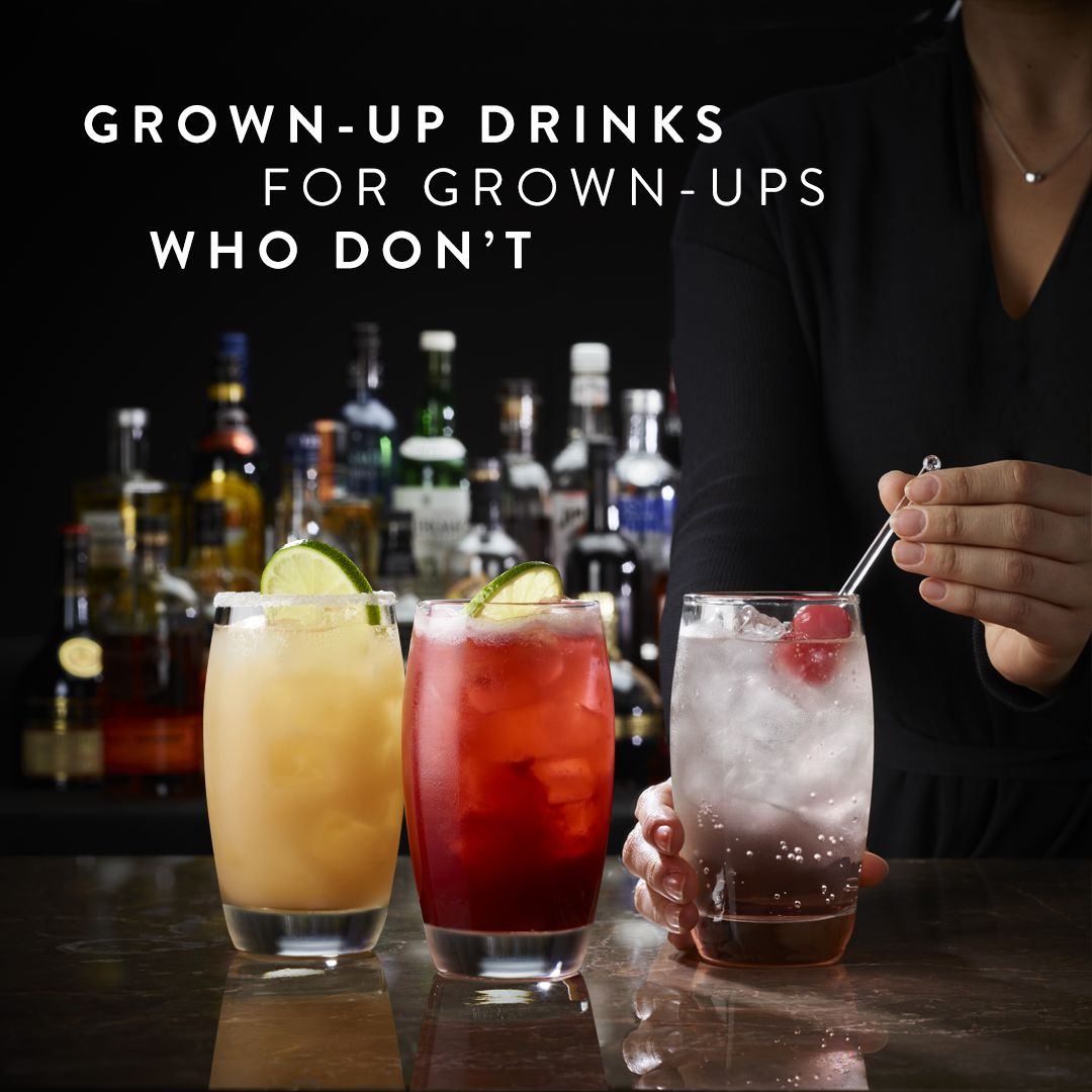 Grown-up drinks for grown-ups who don't